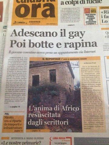 L'articolo comparso su Calabria Ora